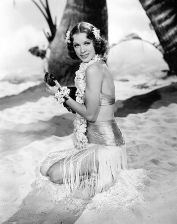 "1939 publicity photo for the movie ""Honolulu"""